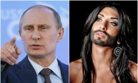Vladimir Putin va fi furios! Ce i-a transmis Conchita Wurst presedintelui rus - VIDEO