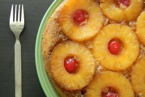 Prajitura intoarsa cu ananas, un desert parfumat si foarte gustos
