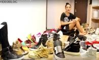 Are o colectie impresionanta de pantofi! Adelina Pestritu si-a demonstrat toate perechile - VIDEO