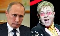 Elton John se intalneste cu Vladimir Putin dupa farsa telefonica. Iata ce vrea sa-i spuna - VIDEO