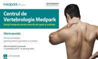 Consultatii gratuite pentru bolnavii de scolioza, la Centrul de Vertebrologie Medpark
