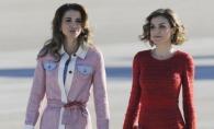 Cele mai frumoase regine din lume, fata in fata. Letizia a Spaniei si Rania a Iordaniei, ravasitoare in rochii scurte