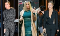 Khloe Kardashian, in 3 tinute sexy care i-au scos in evidenta talia minuscula, posteriorul imens si sanii apetisanti - FOTO
