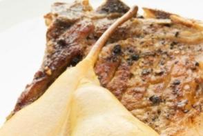 Cotlete de porc cu pere