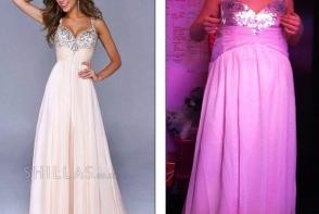Astepari vs. Realitate: Adolescentele dezamagite de rochiile pe care si le-au comandat online pentru balul de basolvire - FOTO