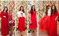 Tinute colorate, rochii rosii si imprimeuri cu cirese! Iata tinutele invitatilor Cherry Party - FOTO