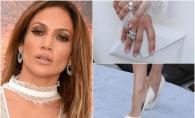 Orice mireasa ar fi invidioasa pe ea. Jennifer Lopez, imbracata ca la nunta la premiera Ice Age 5 - FOTO