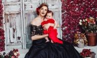 Sarbatoare mare in familia interpretei Tatiana Heghea. Regina Raluca a fost botezata in stil national - FOTO