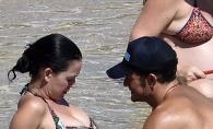 Orlando Bloom si Katy Perry, intimi in vazul lumii! S-au atins tandru si s-au sarutat pasional de fata cu toti - FOTO