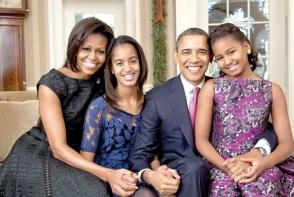 Familia Obama, ultimul Craciun la Casa Alba: Iata cum au sarbatorit - FOTO