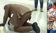 A ingenunchiat in aeroport si i-a speriat pe toti. Cand au inteles de ce, oamenii au inceput sa planga - FOTO