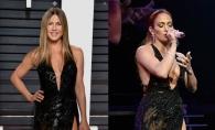 Ambele Jennifer, ambele in acelasi model de rochie! Jennifer Aniston a purtat la Oscar rochia pe care Jennifer Lopez a imbracat-o in august
