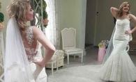 Proba rochiei de mireasa. Jurnalista Tania Micleusanu iti spune unde gasesti cele mai speciale rochii din Chisinau - VIDEO