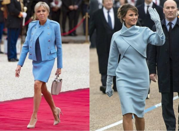 Cine se imbraca mai bine? Noua Prima Doamna a Frantei, tinuta asemanatoare ca a Melaniei Trump - FOTO