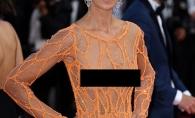 Aproape goala pe covorul rosu de la Cannes. Este cea mai dezinhibata aparitie din acest an - FOTO