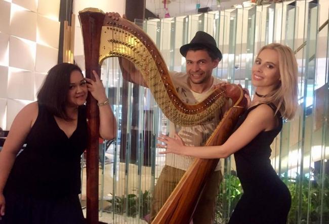 Harpa si pian, un duel inedit. Cum este interpretata aceeasi piesa cu doua instrumente diferite - VIDEO