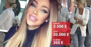 Bianca Dragusanu, la o plimbare obisnuita, dar cu o tinuta de peste 20 de mii de Euro! Geanta, ceasul si incaltamintea costa o avere - FOTO