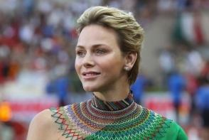 Charlene de Monaco, ravasitoare intr-o tinuta verde smarald. Printesa stie cum sa iasa in evidenta la orice eveniment - FOTO