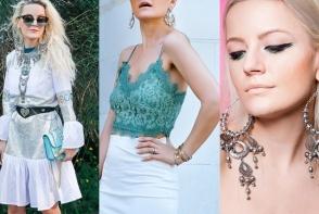 Fashionista Cristina Tabun spune cum sa purtam bijuteriile proeminente! Afla care e cea mai mare gafa a moldovencelor cand accesorizeaza tinutele - FOTO