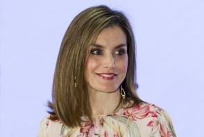 Regina Spaniei a atras toate privirile intr-o rochie cu imprimeu floral. Letizia a bifat o aparitie spectaculoasa - FOTO