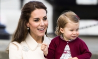 Prima zi de gradinita a Printesei Charlotte. A fost condusa de Ducele si de Ducesa de Cambridge - FOTO