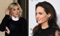 Angelina Jolie si Brigitte Macron s-au intalnit la Palatul Elysee. Actrita si Prima Doamna a Frantei au aratat impecabil - FOTO