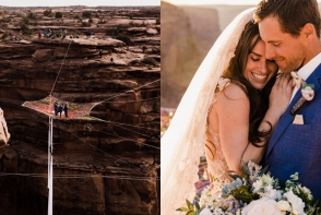 Cea mai spectaculoasa, dar si periculoasa nunta din lume. Unde si-au unit destinele acesti tineri - VIDEO