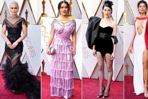Oscar 2018: Cel mai prost imbracate pe covorul rosu - Salma Hayek conduce topul