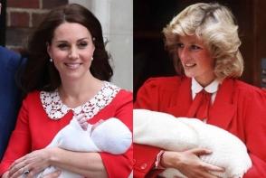Kate Middleton arata EXACT ca Printesa Diana in primele imagini dupa nasterea celui de-al treilea copil - FOTO