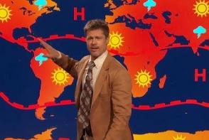 Brad Pitt se face prezentator meteo? Actorul a facut o schimbare de cariera - VIDEO