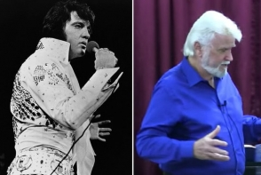 Elvis Presley traieste? A fost vazut cu barba alba, intr-o biserica din Arkansas - VIDEO
