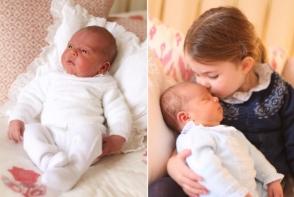Cat de dragut este nou-nascutul regal! Printul William si Kate Middleton au facut publice primele imagini cu Printul Louis - FOTO