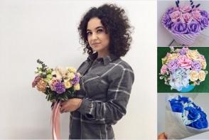 """Catalina Micu: """"Florile sunt comandate de 60% femei si de 40% barbati!"""". Economiseste bani, procurand buchete originale din flori artificiale - FOTO"""