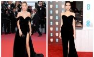 Victoria Bonya o copiaza pe Angelina Jolie? S-a afisat in acelasi model de rochie la Festivalul de la Cannes - FOTO