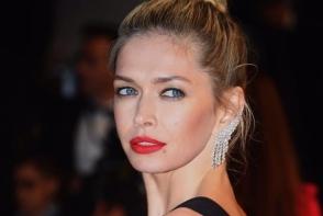 Vera Brejneva, decolteu imens si slit adanc pe covorul rosu de la Cannes. Rusoaica a atras toate privirile cu o tinuta chic - FOTO
