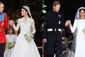 Meghan Markle, prima mireasa care a purtat asa ceva la o nunta regala. A imbinat traditiile cu noul, protocolul cu avangardismul - FOTO