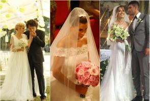 Fotografii de colectie cu rochiile de mireasa ale vedetelor din Romania. Vezi cum au aratat Elena Basescu, Andra Maruta sau Delia - FOTO