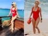 Olia Tira o copiaza pe Pamela Anderson? Vezi cum arata interpreta in celebrul costum de