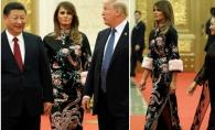 Intalnirea fashionistelor! Cine este regina care a eclipsat-o pe Melania Trump in timpul unei vizite oficiale? FOTO