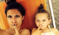 Fanii sunt socati! Antonia si fiica sa, Maya, si-au facut tatuaje identice - FOTO