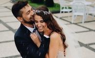 O altfel de nunta! Desi a fost furtuna, mirii s-au fotografiat in ploaie: