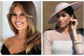 Melania Trump o copiaza pe Meghan Markle? Vezi ce tinute inspirate afiseaza - FOTO