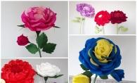 Povestea florilor gigantice din hartie creponata! Tanara mamica Cristina Gritunic reinventeaza decorul incaperilor cu ajutorul unor ornamente florale inedite - FOTO