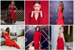 Ladies in red! Cele mai frumoase si cele mai senzuale tinute rosii purtate de vedetele din showbizul autohton - FOTO
