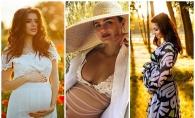 Unele tare indraznete, altele mai putin, dar fiecare are farmecul ei! Cum s-au lasat fotografiate unele dintre cele mai populare gravidute - FOTO