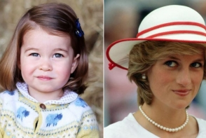 Asemanarea incredibila dintre micuta Printesa Charlotte si bunica ei, Printesa Diana. Fanii au ramas muti de uimire - FOTO