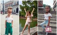 Kamelia Melnic, pasionata de moda. Micuta este o fashionista inraita si adora sa poarte rochite - FOTO