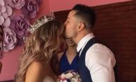 Lux si exuberanta la o nunta moldoveneasca, 70 de invitati din 12 tari. Mireasa a purtat doua rochii spectaculoase si a avut doua buchete de mireasa - FOTO