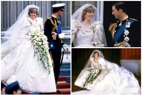 Secretul de la nunta Printului Charles cu Diana a iesit la iveala! Ce a dezvaluit designerul David Emanuel, despre rochia de mireasa a Printesei - FOTO
