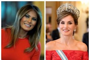 Melania Trump si Regina Letizia, in acelasi model de rochie. Cui ii sta mai bine? FOTO